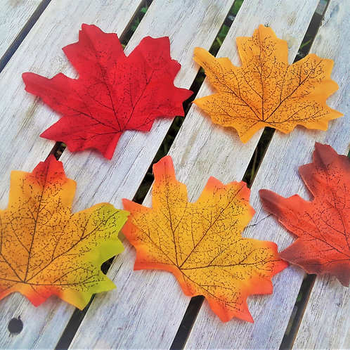 Lots of Autumn leaves (pack of 50)
