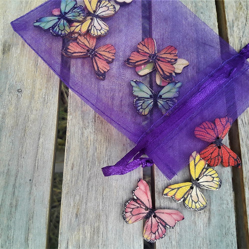 Butterfly wooden memory game