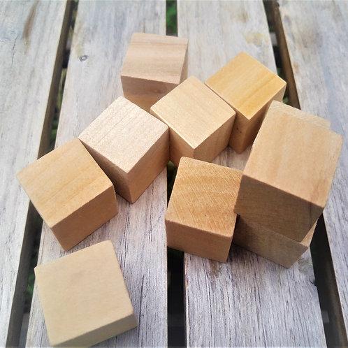 Natural wooden blocks for loose parts play