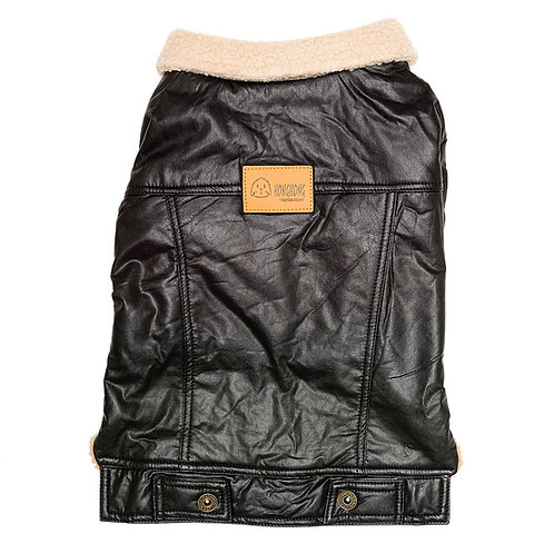 Jaqueta de couro fake