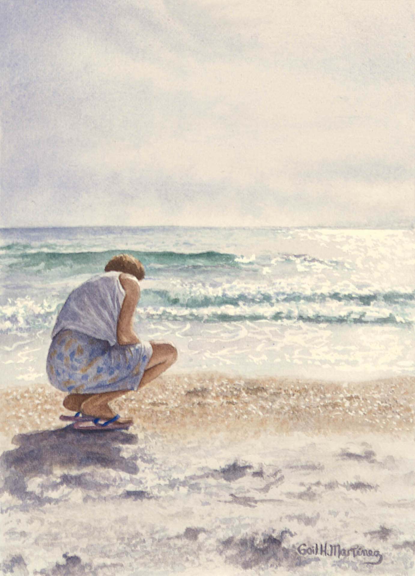 Beachcomber II - Watercolor