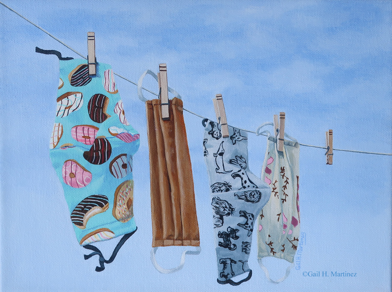Laundry Day - acrylic