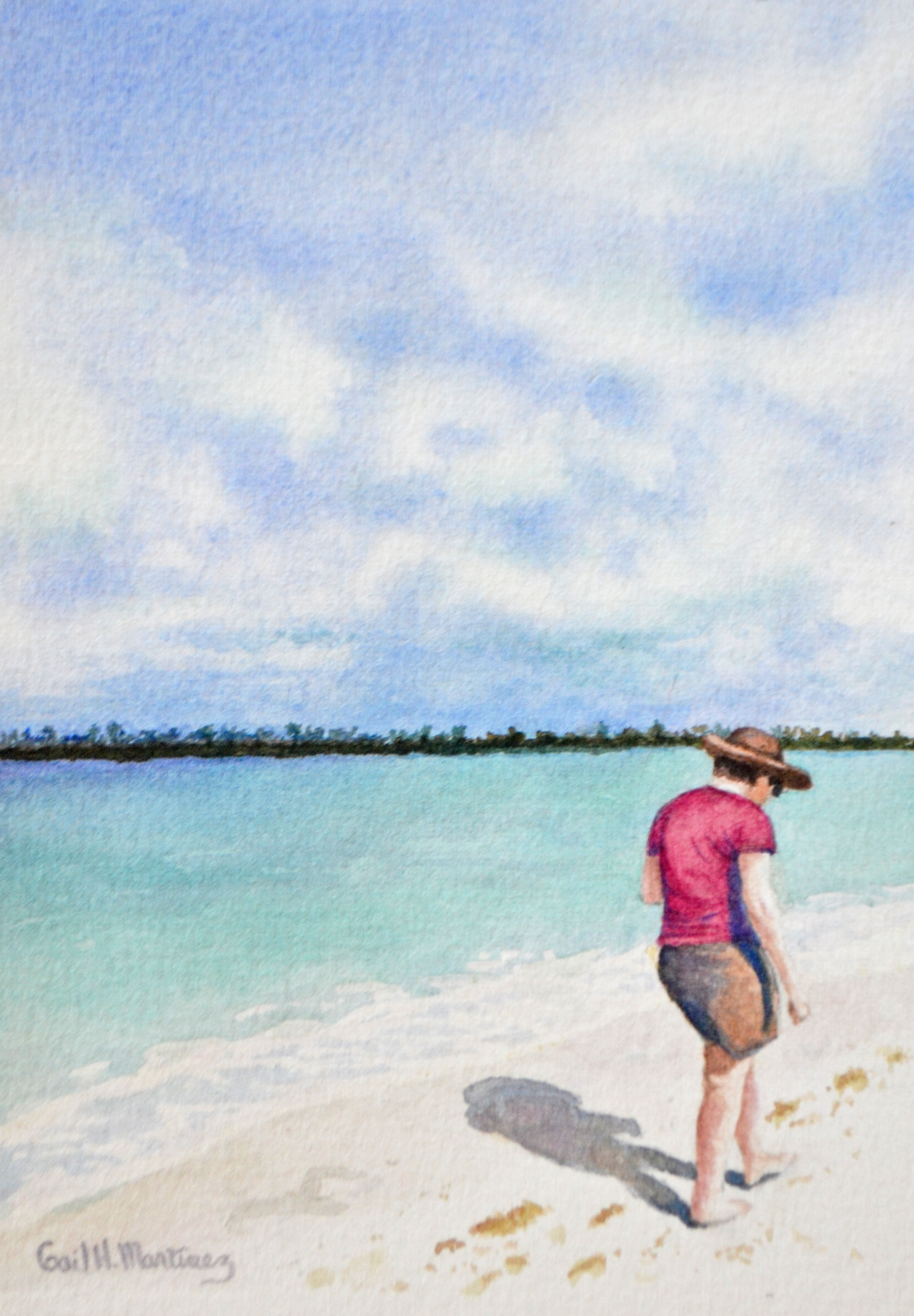 Beachcomber I - watercolor