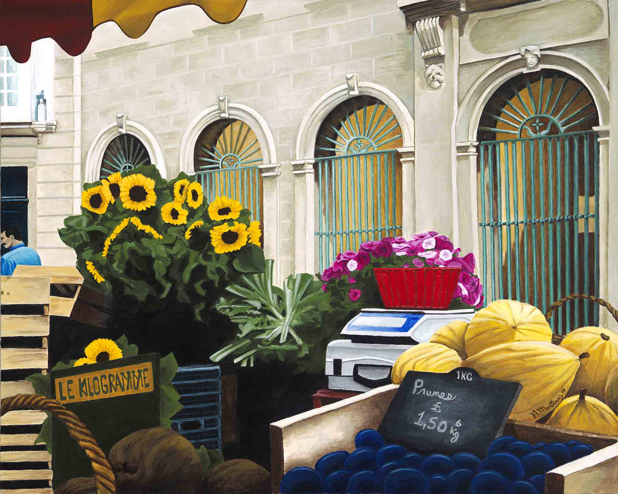 Market en  Provence - Acrylic