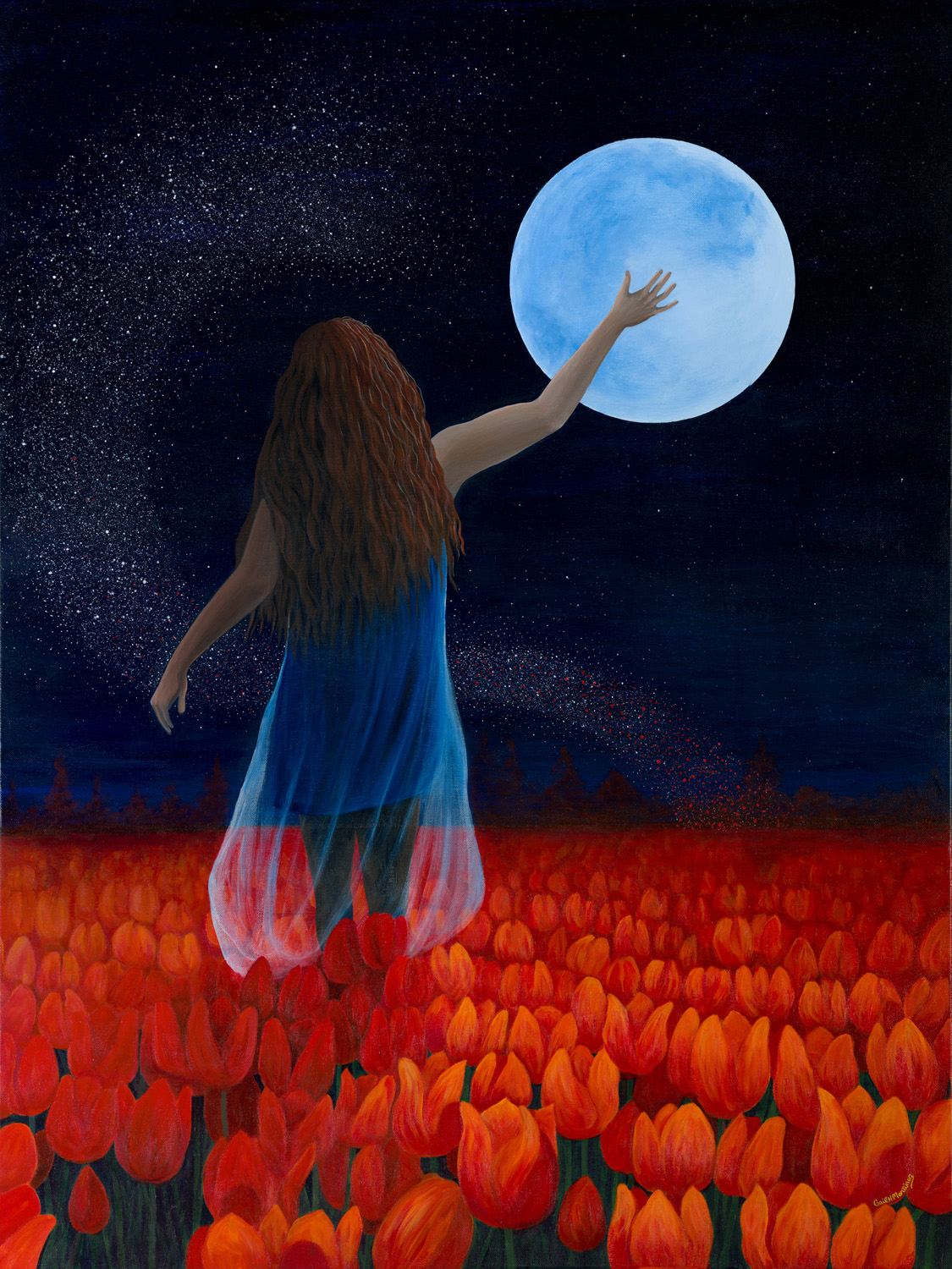 Channeling the Moon-acrylic