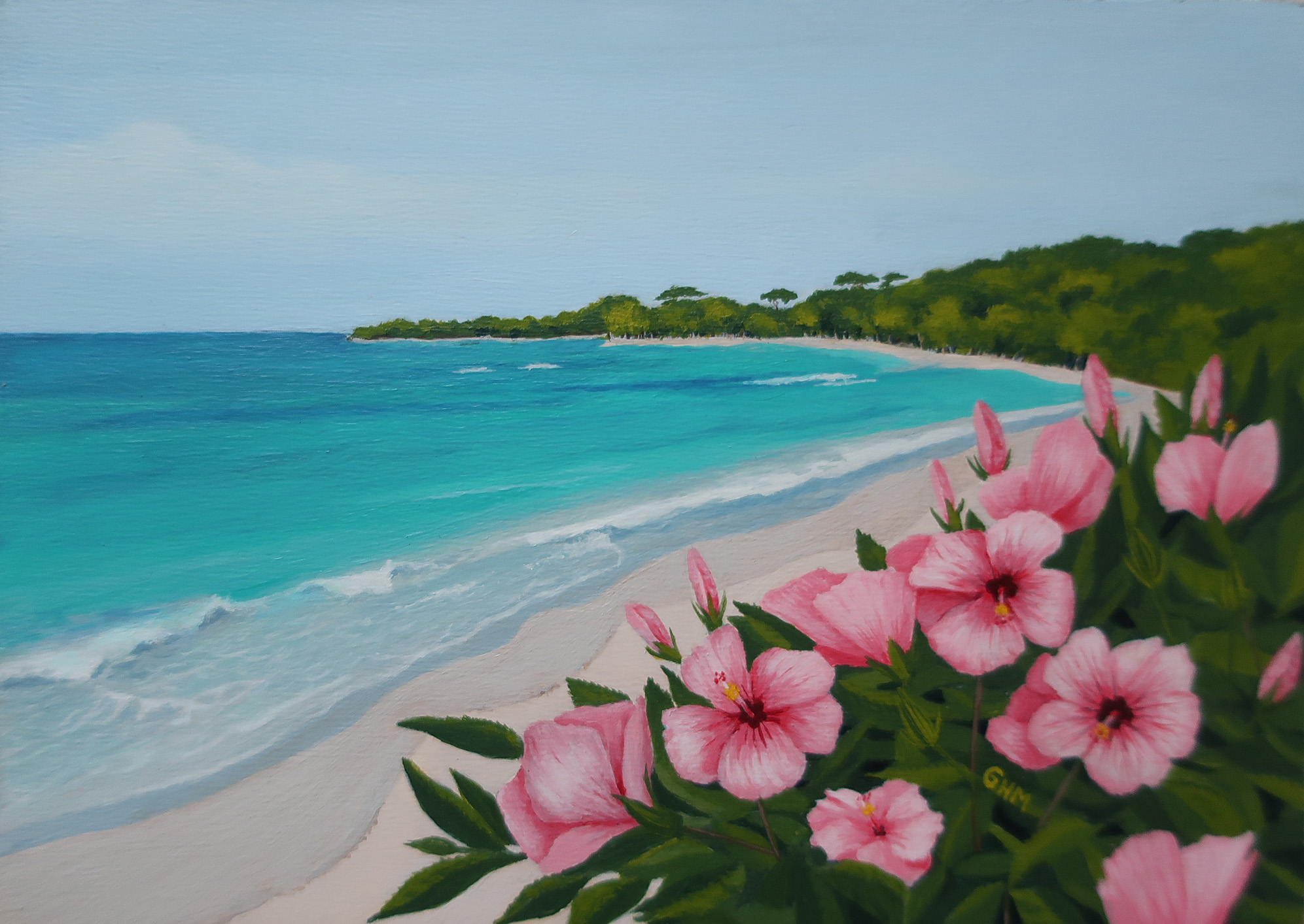 Tropical Retreat - acrylic