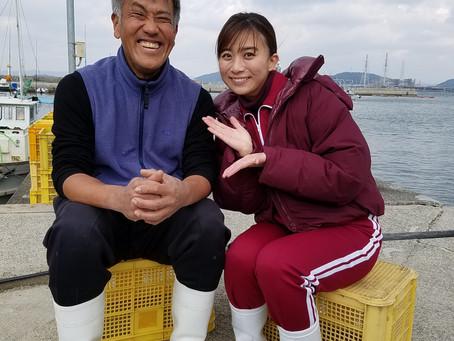 テレ朝の素敵女子山本アナが手伝いに来てくれました