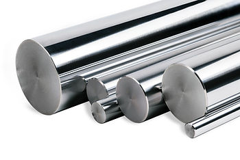 Chrome steel bars isolated_Stainless steel bars isolated_Chrome steel bars isolated on whi