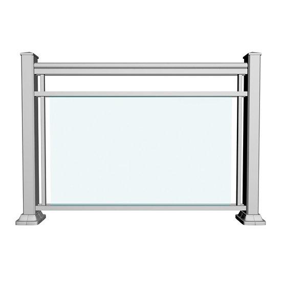 Aluminum Glass Railing | GRCD2