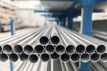 metal inox pipe on stack, close up.jpg