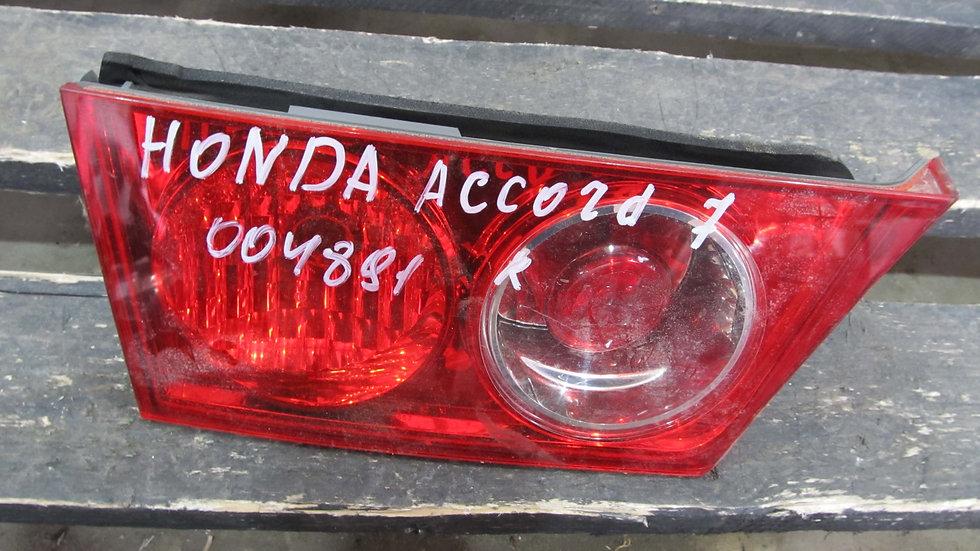 Honda Accord 7 (CL) Фонарь задний правый внутренний Б/у Оригинал