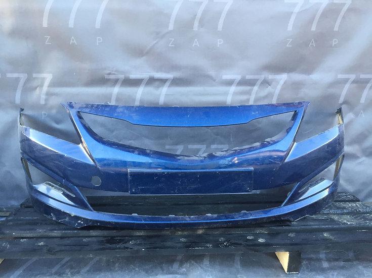 Hyundai Solaris 1 (RB) 14-17 Бампер передний Б/у Оригинал