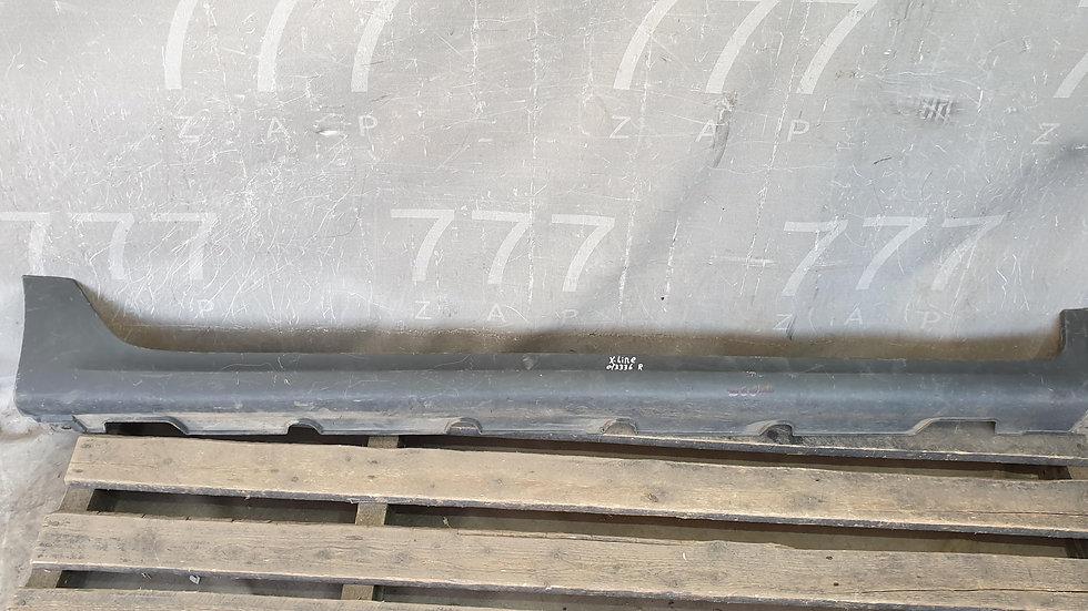 Kia Rio 4 X-Line (17-) Накладка порога правая Б/У Оригинал