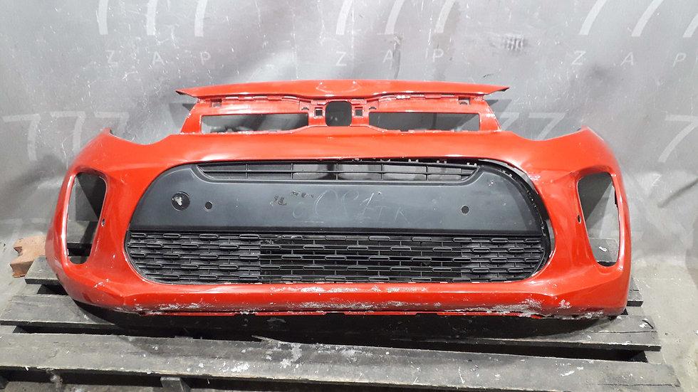 Kia Picanto 3 (JA) 17- Бампер передний+решетка Б/у Оригинал