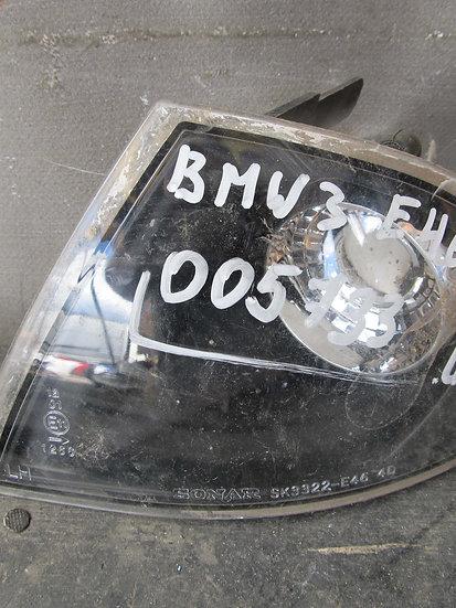 BMW 3-Series (E46) Поворотник передний левый Б/у Неоригинал