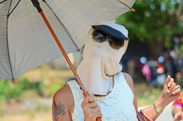 Sun protection is needed in Thailand.