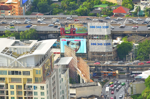 Notice the lady looking at you? It is not a billboard advertisement. It is a LED TV.
