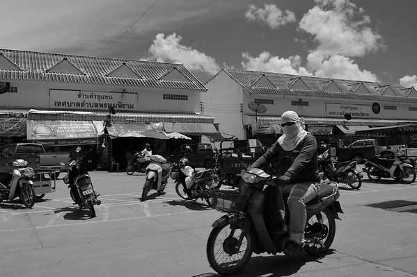 Black and white image from Thailand.