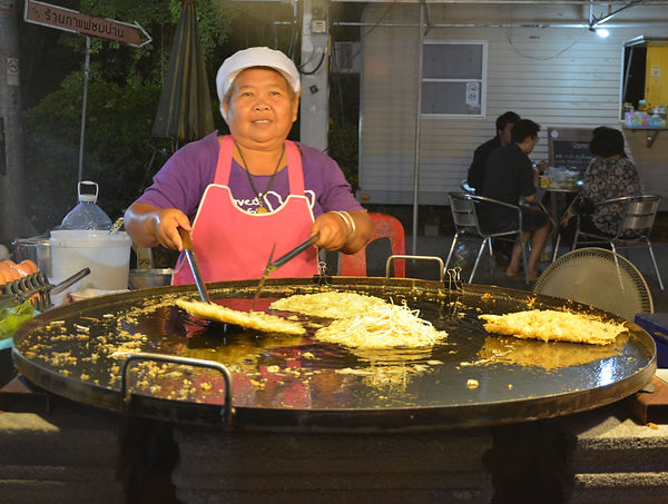 Frying up a treat in Thailand.
