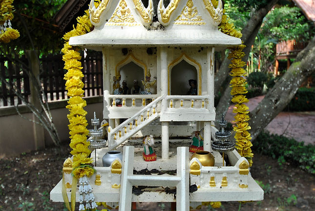 A spirit house in Thailand.