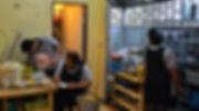Thai kitchen staff at work.