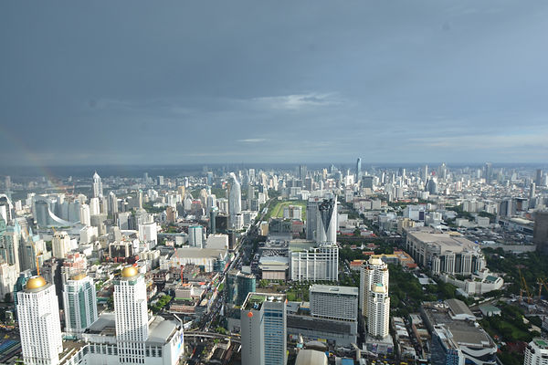 A view of Bangkok's downtown.