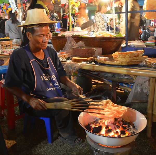 Cooking in Thailand.