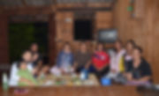 Guests enjoying dinner at a Shan homestay in northern Thailand.