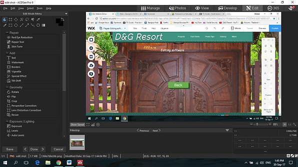 A screenshot of the ACDSee editing program.