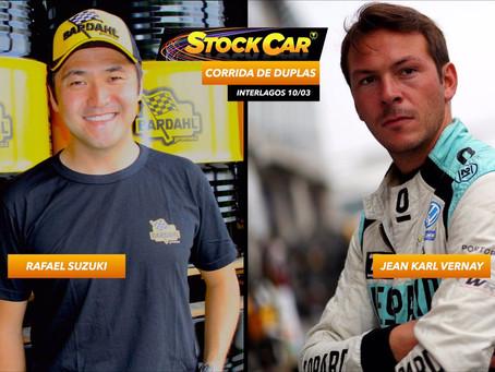 Francês Jean-Karl Vernay é o convidado de Rafael Suzuki na abertura da Stock Car