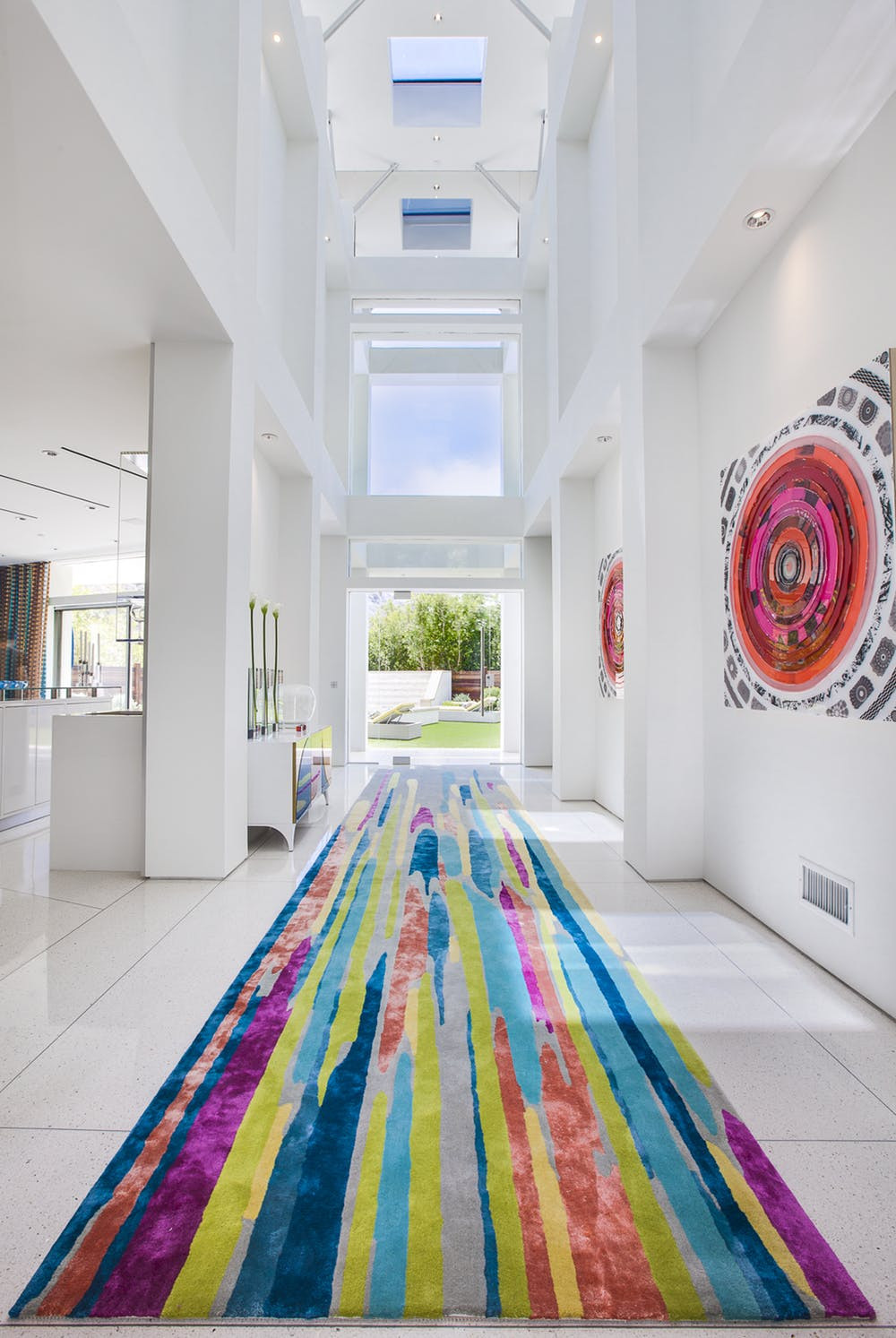 Beverly Hills Entry with Impressive Artwork | Crespo Design Group | Interior Designers based in Tampa Florida