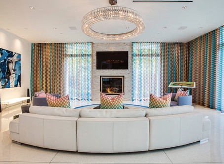 High-Design Spaces with Curved Sofas