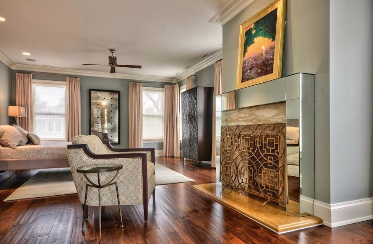 crespo design group portfolio interiors hyde park bedroom custom pattern chair