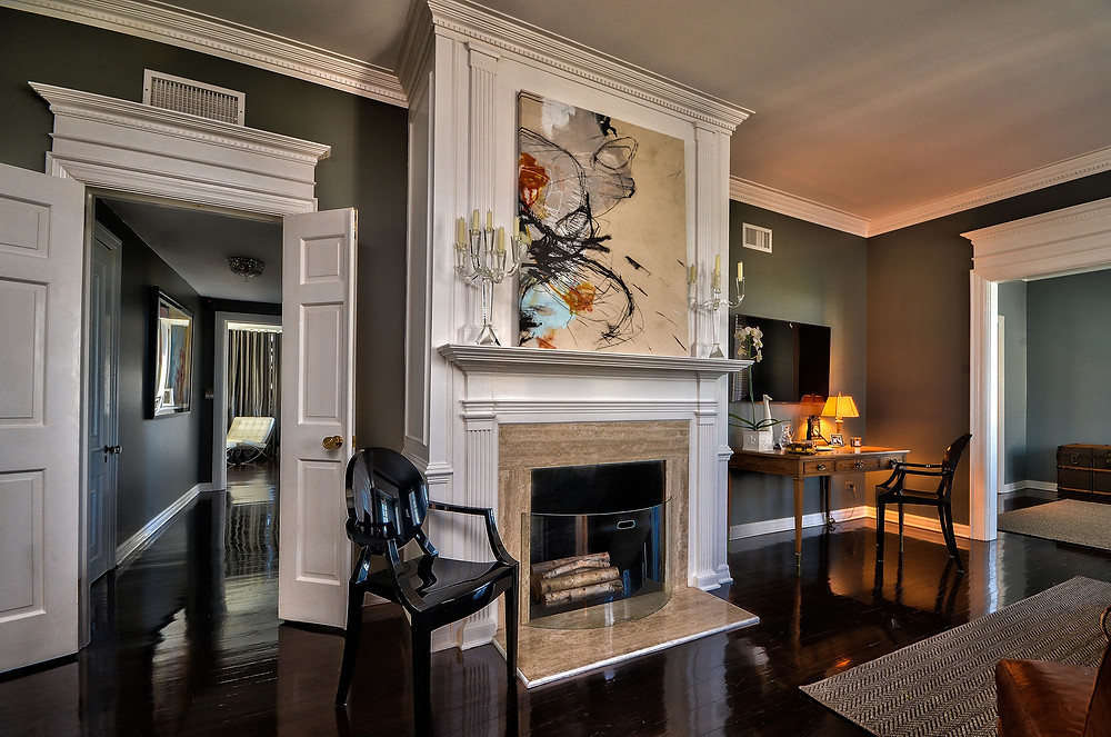 Tampa Interior Designers - Crespo Design Group - Dark Accents Bedroom 1