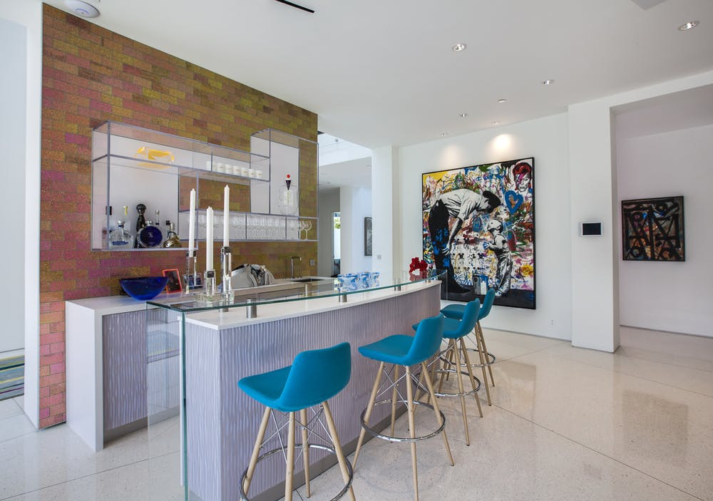 Beverly Hills Colorful Home  Bar | Crespo Design Group | Interior Designers based in Tampa Florida