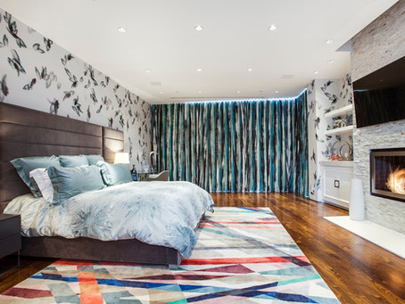 Bedrooms with Vibrant Rugs