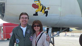 My wife and I with B-25