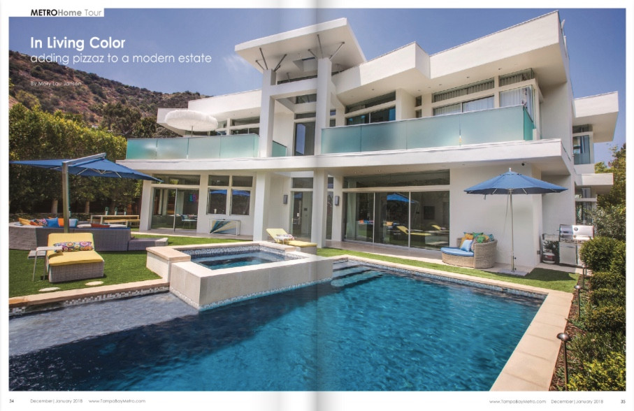 Interior Design Blog | Crespo Design Group | Favorite Project featured in Dec/Jan issue of Tampa Bay Metro