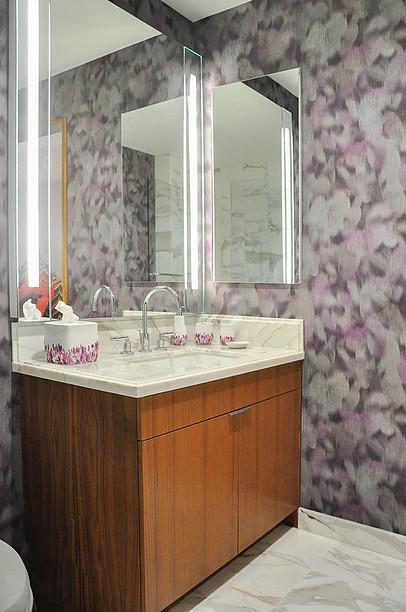 Tampa Interior Designer Crespo Design Group | Los Angeles Ladys Retreat | Powder Rooms Blog 3-1-2017