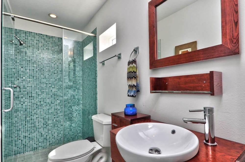 Crespon Design Group Blog | Dering Hall | Mid century modern shower faucet detail