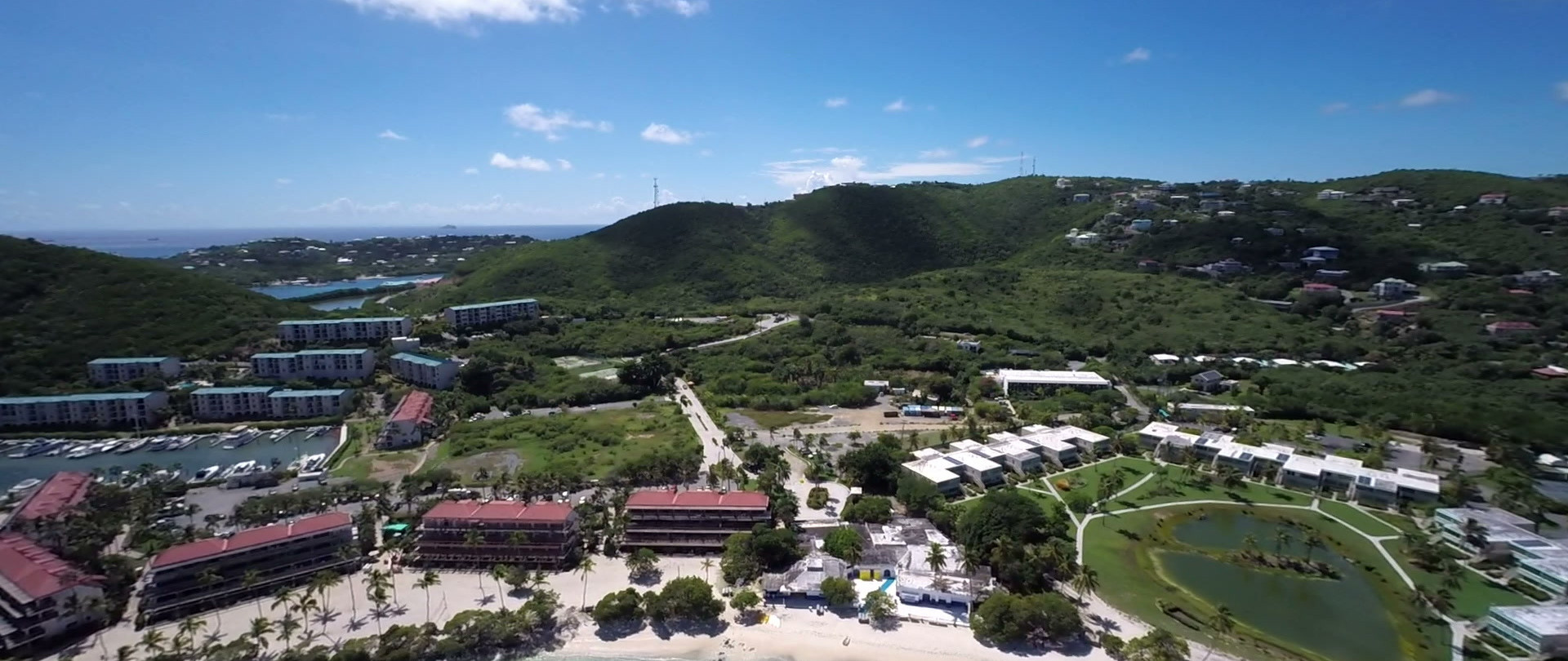 Charter Boat St Thomas | Aerial video of Sapphire beach, St.Thomas | Phoenix Island Charters marina