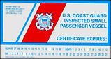 U.S. Coast Guard Inspected Small Passeng
