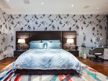 Bold Bedrooms with Patterned Wallpaper
