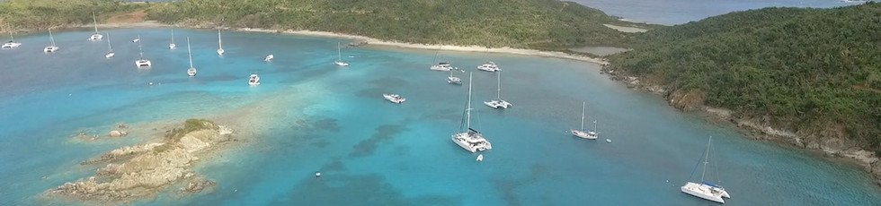 St Thomas Boat Charters - Phoenix Island Charters Yacht at anchor