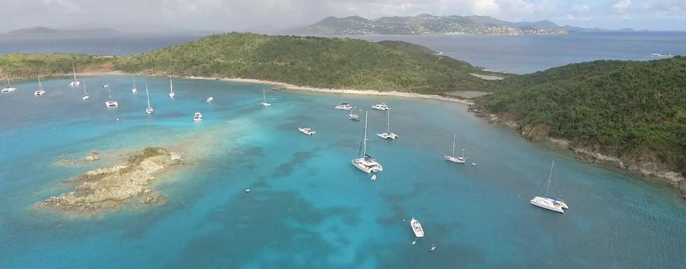 St Thomas Boat Charter - Phoenix Island Charters Yacht at anchor