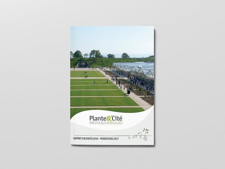 Plante & Cité, plaquette, flyer, document, graphisme, communication, design by la Fabrique Rouge, Angers