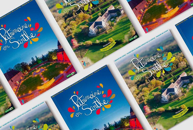 Patrimoine en Sarthe, Abbaye Royale de L'Epau, tourisme, édition, mise en page, graphisme, communication, design by la Fabrique Rouge, Angers, Maine et Loire
