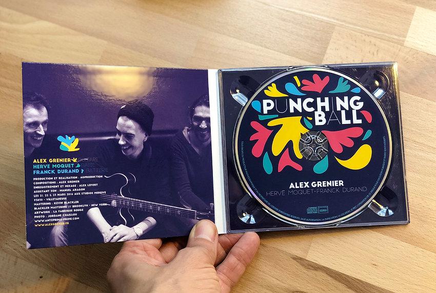 Alex Grenier, album Punching Ball, graphisme, communication, musique, vinyle, la Fabrique Rouge