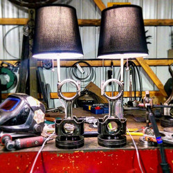 Some #lamps I made today #dodge #cummins #pistons #forsale #mancave #art