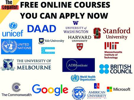 قائمة ب21 ماجستير وكورسات مجانية مقدمة من أكبر الجامعات والمنظمات الدولية في العالم